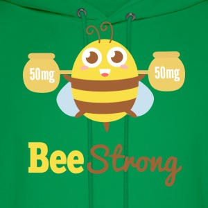 Motivational cartoon to bee strong T-Shirts - Men's Hoodie
