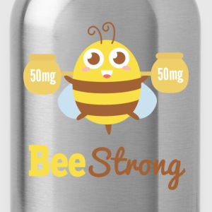 Motivational cartoon to bee strong T-Shirts - Water Bottle