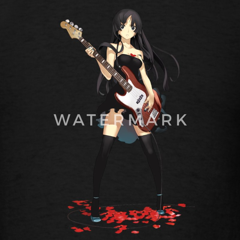 Anime Girl Bassist - Men's T-Shirt