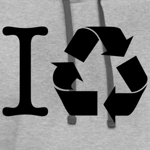 I RECYCLE SYMBOL T-Shirts - Contrast Hoodie