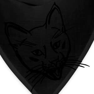Crazy Kitten Black Shopping/Tote Bag - Bandana
