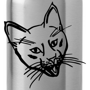 Crazy Kitten Black Shopping/Tote Bag - Water Bottle