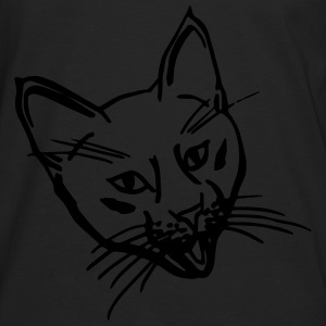 Crazy Kitten Black Shopping/Tote Bag - Men's Premium Long Sleeve T-Shirt