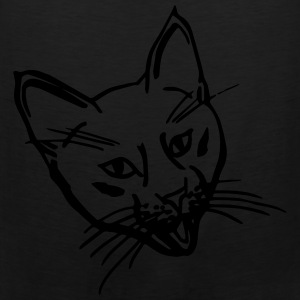 Crazy Kitten Black Shopping/Tote Bag - Men's Premium Tank