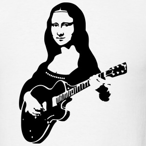 Mona lisa with a guitar Hoodies - Men's T-Shirt