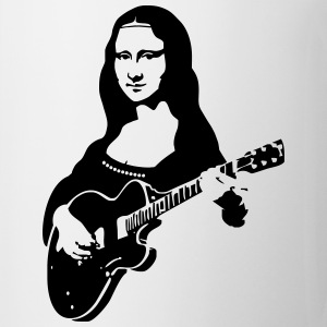 Mona lisa with a guitar Women's T-Shirts - Coffee/Tea Mug
