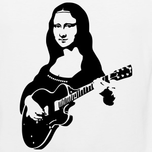 Mona lisa with a guitar Women's T-Shirts - Men's Premium Tank