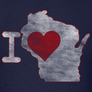 I Heart Wisconsin Milwaukee Mart Long Sleeve Shirts - Men's T-Shirt