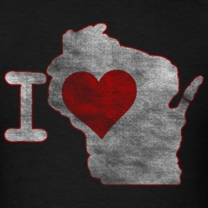 I Heart Wisconsin Milwaukee Mart Hoodies - Men's T-Shirt