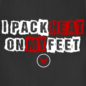 I pack heat on my feet design T-Shirts - Adjustable Apron