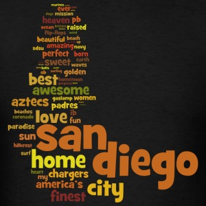 San Diego Words Shirt Diego Hoodies - Men's T-Shirt