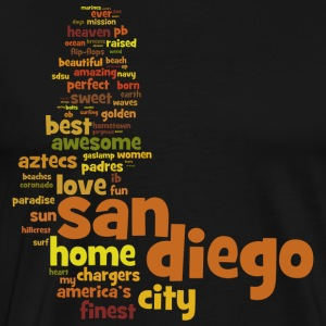 San Diego Words Shirt Diego Hoodies - Men's Premium T-Shirt