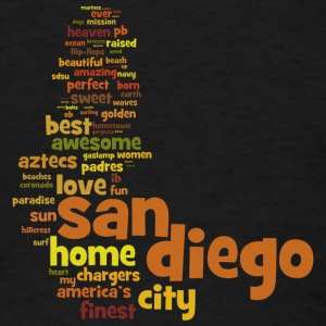 San Diego Words Shirt Diego Sweatshirts - Men's T-Shirt