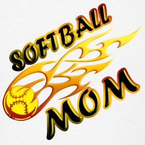 Softball Mom (flame) Accessories - Men's T-Shirt