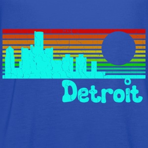 1980s Retro Vintage Detroit - Women's Flowy Tank Top by Bella