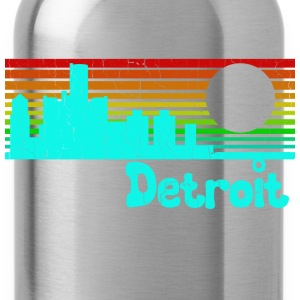 1980s Retro Vintage Detroit - Water Bottle