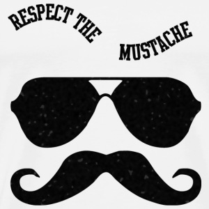 Respect The Moustache Hoodies - Men's Premium T-Shirt