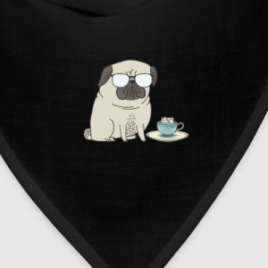 tea time for Mr Pug T-Shirts - Bandana