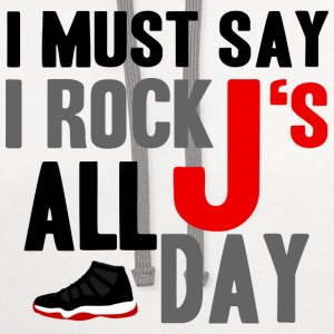 I Rock J's All Day Bred Graphic T-Shirts - Contrast Hoodie