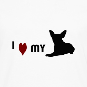 I Love My Chihuahua - Men's Premium Long Sleeve T-Shirt