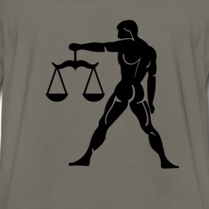 Libra Zodiac Sign T-shirt - Libra Symbol Scales - Men's Premium Long Sleeve T-Shirt
