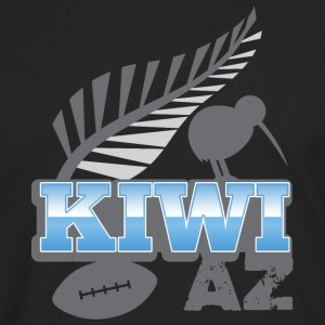 Kiwi AS with silver fern bird and rugby ball T-Shirts - Men's Premium Long Sleeve T-Shirt