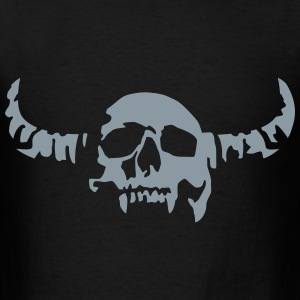 devil_skull_042013_a_1c Bags  - Men's T-Shirt