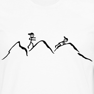 Climber in the mountains T-Shirts - Men's Premium Long Sleeve T-Shirt