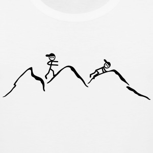 Climber in the mountains T-Shirts - Men's Premium Tank