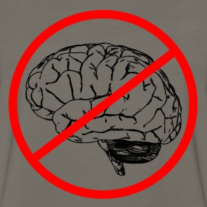 No Brain Sign - Men's Premium Long Sleeve T-Shirt