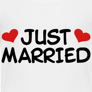 Just Married Wedding Kids' Shirts - Toddler Premium T-Shirt