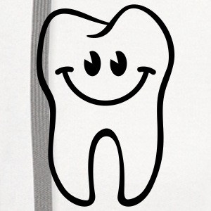 Tooth- / Dent- / Diente- / Dente- / Zahn-Smiley T-Shirts - Contrast Hoodie