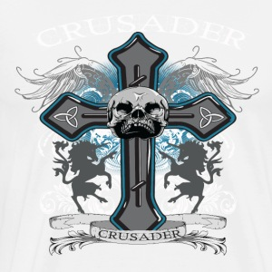Cross Requiem (White) Hoodies - Men's Premium T-Shirt