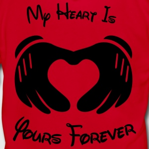 My heart is yours forever - Unisex Fleece Zip Hoodie by American Apparel
