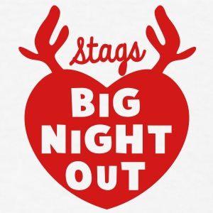 STAGS big NIGHT out wedding Bachelor english STAG Accessories - Men's T-Shirt