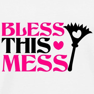 Bless this mess with feather duster cleaner Phone & Tablet Cases - Men's Premium T-Shirt