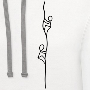 Two climbers on the rope Women's T-Shirts - Contrast Hoodie