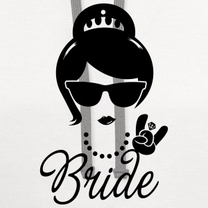 Bride Wedding Marriage Stag do Hen night party Women's T-Shirts - Contrast Hoodie