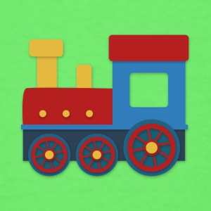 colorful train Baby & Toddler Shirts - Men's T-Shirt