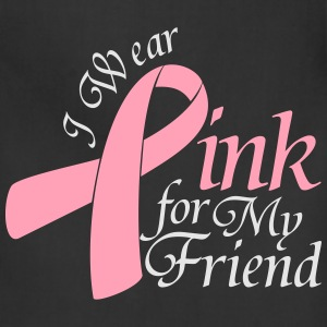 I Wear Pink For My Friend Long Sleeve Shirts - Adjustable Apron