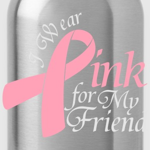 I Wear Pink For My Friend Long Sleeve Shirts - Water Bottle