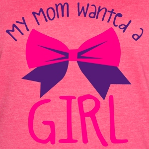 My mom wanted a girl and a bow cute! Tanks - Women's Vintage Sport T-Shirt