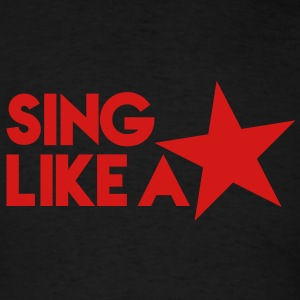 SING LIKE A STAR! music musician stars! Tanks - Men's T-Shirt