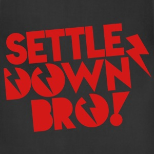 SETTLE DOWN BRO brothers with lightning bolt Tanks - Adjustable Apron