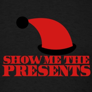 SHOW ME THE PRESENTS! Christmas santa hat funny Tanks - Men's T-Shirt