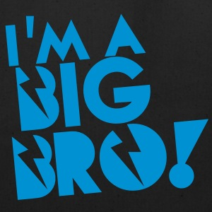 I'm a BIG BRO! brother in funky cool solid Tanks - Eco-Friendly Cotton Tote