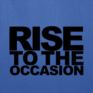 Rise to the Occasion Blue and Black - Tote Bag