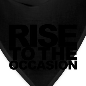Rise to the Occasion Red and Black - Bandana
