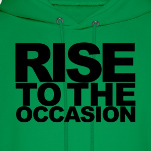 Rise to the Occasion Green and Black - Men's Hoodie