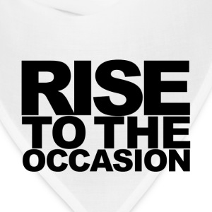 Rise to the Occasion White and Black - Bandana